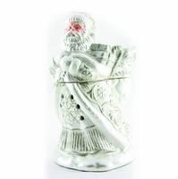 CLOSEOUT - Brushed Platinum Santa Radiant Fragrance Warmer