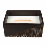 CLOSEOUT-Cinnamon Cheer Two-Tone Small Rectangle WoodWick Candle with HearthWick Flame | Discontinued & Seasonal WoodWick Items!