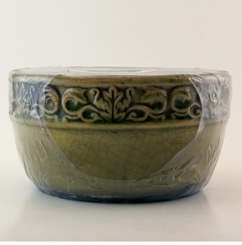 Citrus & Sage Swan Creek Vintage Bowl (Color: Green)