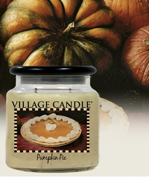 _DISCONTINUED   Pumpkin Pie 22.5 Oz. Kitchen Collection Candle By Village  Candles