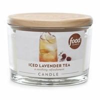 CLOSEOUT - Iced Lavender Tea 16 oz. Food Network Glass Jar Candle by Boulevard