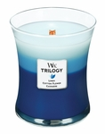 CLOSEOUT-Clothesline Fresh WoodWick Trilogy Candle 10oz | Discontinued & Seasonal WoodWick Items!