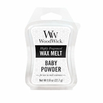 CLOSEOUT-Baby Powder WoodWick 0.8 oz. Mini Hourglass Wax Melt | Discontinued & Seasonal WoodWick Items!