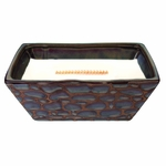 CLOSEOUT - Birchwood River Rock Medium Rectangle WoodWick Candle with HearthWick Flame | Discontinued & Seasonal WoodWick Items!