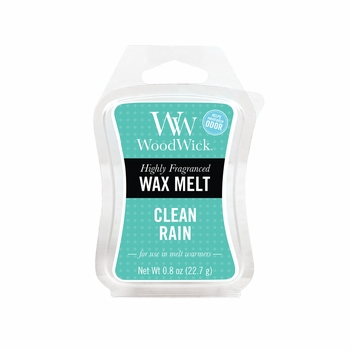 _DISCONTINUED - Clean Rain WoodWick ODOR NEUTRALIZING 0.8 oz. Mini Hourglass Wax Melt