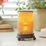 Crackled Amber Glass Illumination Fragrance Warmer
