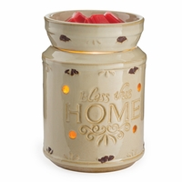 Cream Bless This Home Illumination Fragrance Warmer