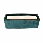 CLOSEOUT - Dew Drops Wavy Blue Large Rectangle WoodWick Candle with HearthWick Flame | Discontinued & Seasonal WoodWick Items!