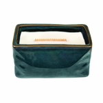 CLOSEOUT - Dew Drops Wavy Blue Medium Rectange WoodWick Candle with HearthWick Flame | Discontinued & Seasonal WoodWick Items!