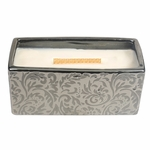 CLOSEOUT - Fireside Damask Woods Rectangle WoodWick Candle with HearthWick Flame | Discontinued & Seasonal WoodWick Items!