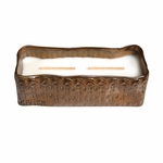 CLOSEOUT - Fireside Tribal Large Rectangle WoodWick Candle with HearthWick Flame | Discontinued & Seasonal WoodWick Items!