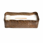 CLOSEOUT - Fireside Tribal Medium Rectangle WoodWick Candle with HearthWick Flame | Discontinued & Seasonal WoodWick Items!