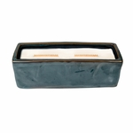 CLOSEOUT - Fireside Wavy Blue Large Rectangle WoodWick Candle with HearthWick Flame | Discontinued & Seasonal WoodWick Items!