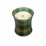 CLOSEOUT - *Frasier Fir Holiday Plaid Hourglass WoodWick Candle | Discontinued & Seasonal WoodWick Items!