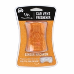 CLOSEOUT - Ginger Macaron WoodWick Car Vent Freshener | Discontinued & Seasonal WoodWick Items!