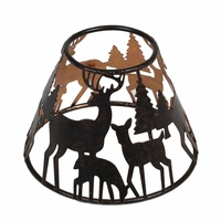 CLOSEOUT - Glowing Forrest Shade for 22 oz. WoodWick Candle