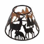 CLOSEOUT - Glowing Forrest Shade for 22 oz. WoodWick Candle | Discontinued & Seasonal WoodWick Items!