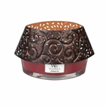 CLOSEOUT-Glowing Leaf Shade for 16 oz. Ellipse Glass HearthWick Candle | Discontinued & Seasonal WoodWick Items!