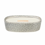 CLOSEOUT-Lavender Spa Pebble Medium Oval WoodWick Candle with HearthWick Flame | Discontinued & Seasonal WoodWick Items!