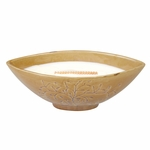 CLOSEOUT-Linen Gold Tree Medium Ellipse WoodWick Candle with HearthWick Flame | Discontinued & Seasonal WoodWick Items!