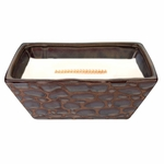 CLOSEOUT - Linen River Rock Medium Rectangle WoodWick Candle with HearthWick Flame | Discontinued & Seasonal WoodWick Items!