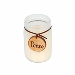 CLOSEOUT-*Mint Truffle Sentiment Jar WoodWick Candle | Discontinued & Seasonal WoodWick Items!