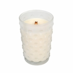 CLOSEOUT-*Mint Truffle Vintage Hobnail Glass WoodWick Candle | Discontinued & Seasonal WoodWick Items!