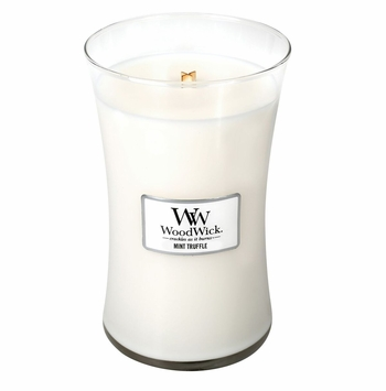 _DISCONTINUED_Mint Truffle WoodWick Candle 22 oz.