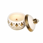 CLOSEOUT - NEW! - Oatmeal Cookie Tree Ornament Jar WoodWick Candle | Discontinued & Seasonal WoodWick Items!