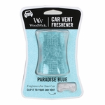 CLOSEOUT-Paradise Blue WoodWick Car Vent Freshener | Discontinued & Seasonal WoodWick Items!