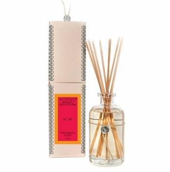 Persimmon Poppy Aromatic Reed Diffuser Votivo Candle