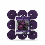 CLOSEOUT - Plum Cassis 9-Pack Tealights Colonial Candle | Colonial Candle Closeouts