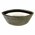 CLOSEOUT - Redwood Ribbed Medium Ellipse WoodWick Candle with HearthWick Flame | Discontinued & Seasonal WoodWick Items!