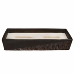 CLOSEOUT - Vanilla Bean Two-Tone Large Rectangle WoodWick Candle with HearthWick Flame | Discontinued & Seasonal WoodWick Items!