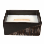 CLOSEOUT - Vanilla Bean Two-Tone Small Rectangle WoodWick Candle with HearthWick Flame | Discontinued & Seasonal WoodWick Items!