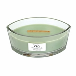 White Willow Moss WoodWick Candle 16 oz. HearthWick Flame | HearthWick Ellipse Glass Candles