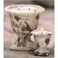 Distressed Terra Cotta Large Tuscan Urn Nouvelle Candles