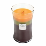 CLOSEOUT-Fall Traditions WoodWick Trilogy Candle 22 oz. | Discontinued & Seasonal WoodWick Items!