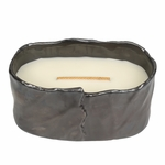 CLOSEOUT - Fireside Brownstone Medium Oval WoodWick Candle with HearthWick Flame | Discontinued & Seasonal WoodWick Items!