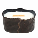 CLOSEOUT - Fireside Brownstone Small Oval WoodWick Candle with HearthWick Flame | Discontinued & Seasonal WoodWick Items!