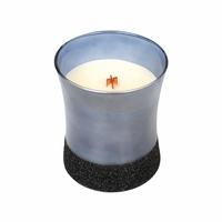 CLOSEOUT - *Fireside Midnight Glitz Hourglass WoodWick Candle