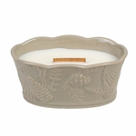 CLOSEOUT-*Fireside Pinecone Medium WoodWick Candle with HearthWick Flame | Discontinued & Seasonal WoodWick Items!