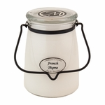 CLOSEOUT - French Thyme 22 oz. Butter Jar Candle | Milkhouse Candle Creamery Closeouts