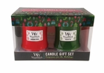 Happy Holidays 10 oz. Candle 2 Pack Gift Set by WoodWick | WoodWick Gift Sets
