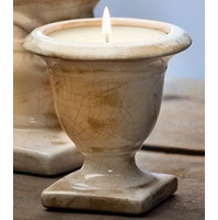 Ivory Cream Crackle Small Tuscan Urn Nouvelle Candle