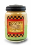 CLOSEOUT - Lime & Coconut 26 oz. Large Jar Candleberry Candle | Candleberry Candle Closeouts