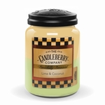 NEW! - Lime & Coconut 26 oz. Large Jar Candleberry Candle | Large Jar Candles by Candleberry