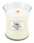 Linen WoodWick Candle 10 oz. | WoodWick Candles 10 oz. Medium Jars