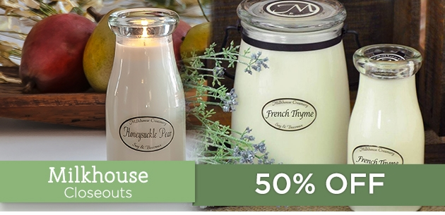 Milkhouse Candle Creamery Closeouts