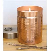14 oz. Hammered Canister Candle  by Aspen Bay Candles